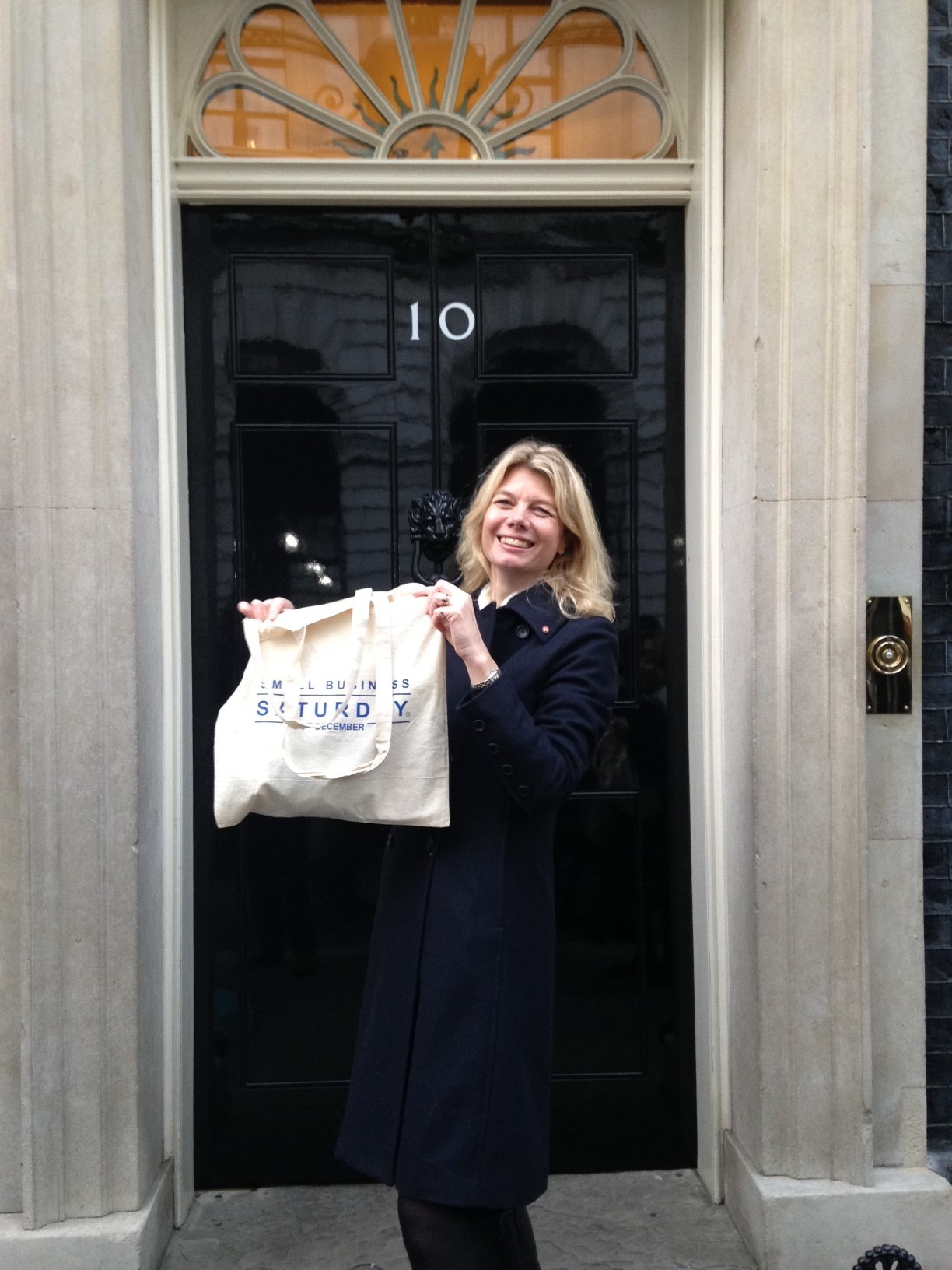 CHOSEN: Emma Woods arrives in Downing Street