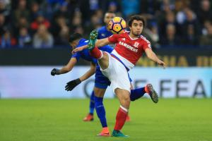 STILL BATTLING: Fabio da Silva will be doing all he can to try to help Middlesbrough avoid relegation from the Premier League