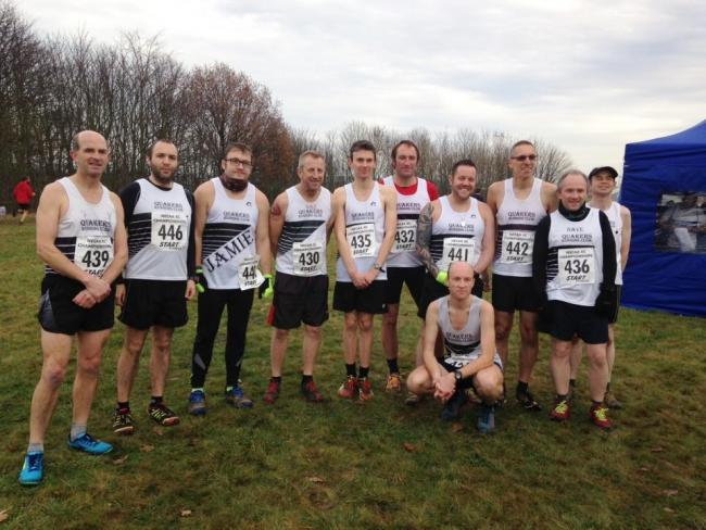 Some of our men's team runners before the cross country race at Durham