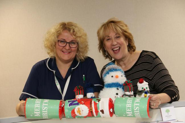 St Teresa's Hospice's head of nursing, Alison Marshall with chief executive, Jane Bradshaw ahead of the 16th Christmas Cracker concert. Picture: IAN LAMMING