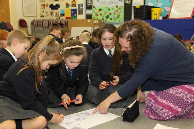 INSPIRATION: Author Emma Warner-Reed inspires children at Barnard Castle Prep School