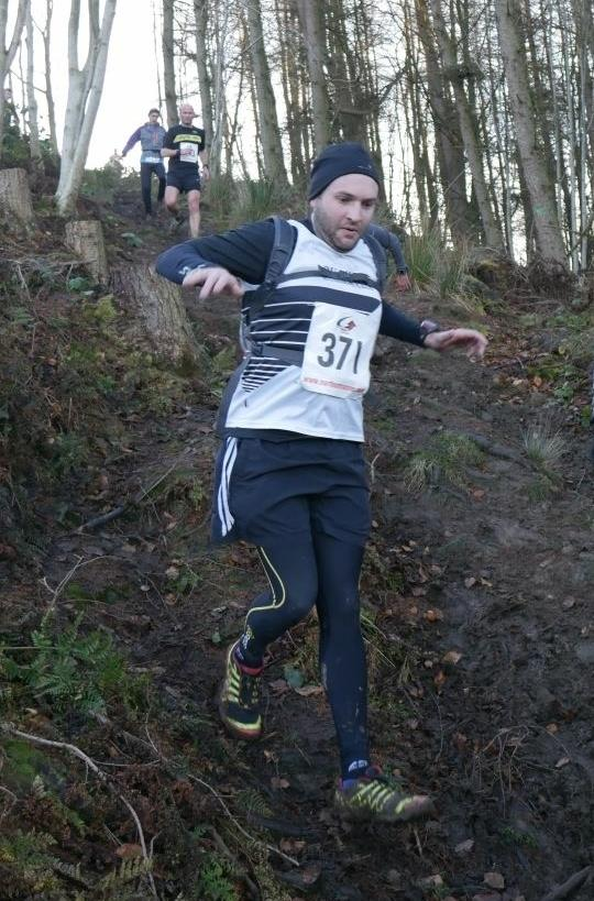 One of our runners braving a very steep descent last week!