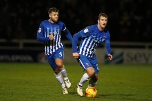 Hartlepool United V Grimsby Town. ..Scott Harrison and Nicky Featherstone...Picture: TOM BANKS.