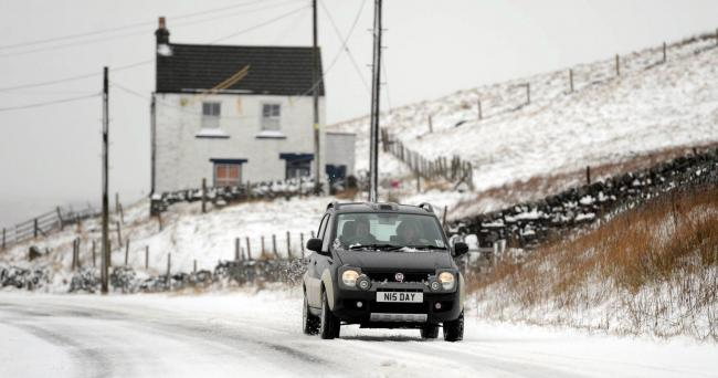 FREEZE: Snow blown roads in Middleton-in-Teesdale