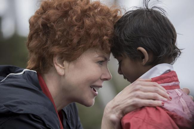 Lion. Pictured: Nicole Kidman as Sue Brierley, and Sunny Pawar as Young Saroo