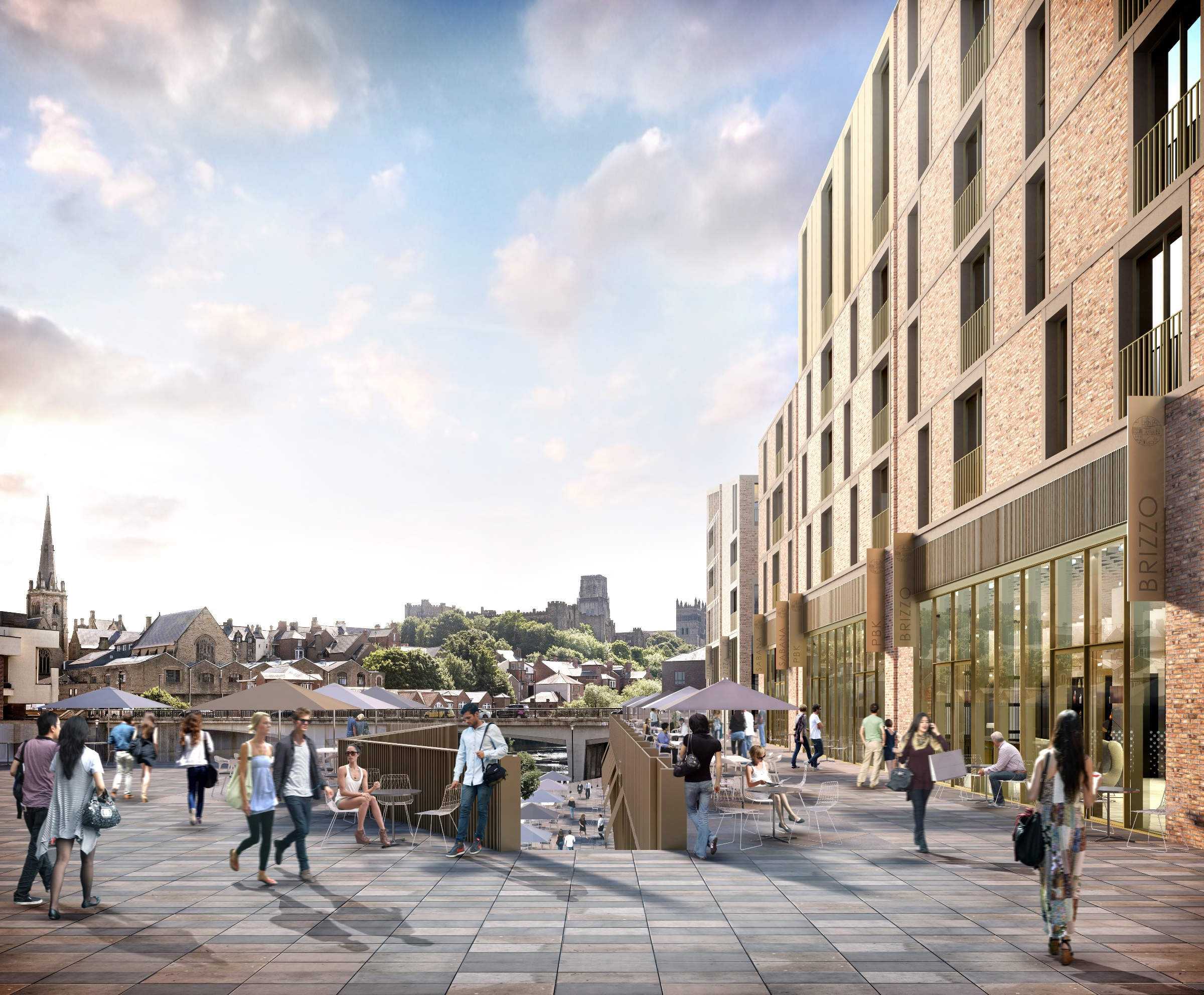 VISION: An artist's impression of the Durham City Milburngate development