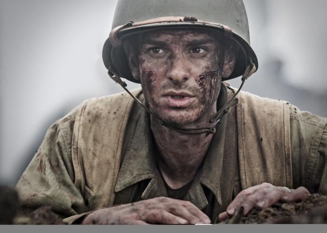 Hacksaw Ridge. Pictured: Andrew Garfield as Desmond T. Doss