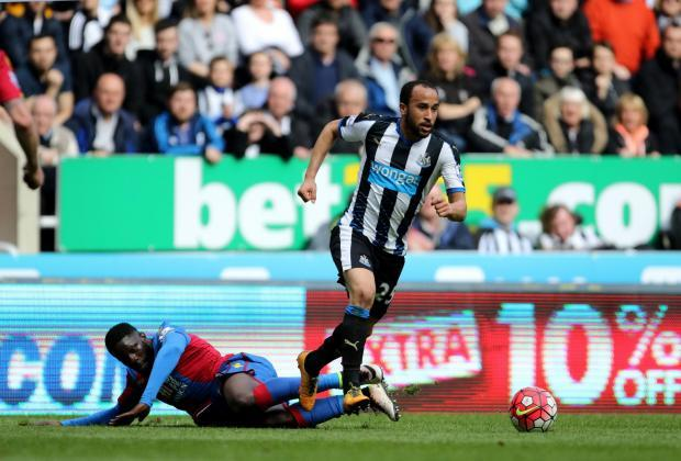 RETURN: Crystal Palace's Andros Townsend is heading back to Newcastle.