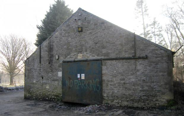 The Northern Echo: OLD OUTBUILDING: On Carmel Road South, near the Blands Corner roundabout, there is a very boring looking outbuilding which dates from 1860 to 1890 – but it has a very curious stone built in above its big door