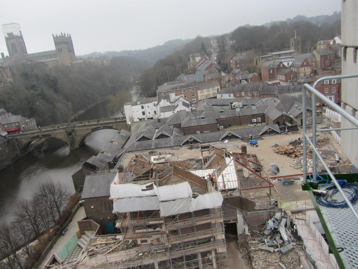 Pictures Crane Operator Snaps Shots Of Durham City Centre From 88ft
