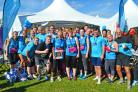 CHARITY: Teesside Hospice runners at last year's Great North Run