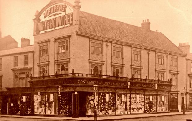 The Northern Echo: No 4: Duff & Armstrong's stunning shop was at the junction of Newgate Street and the Market Place. Picture courtesy of Tom Hutchinson. Today's front cover shows the Market Place through the castle gates when D&R was still standing: we reckon the p