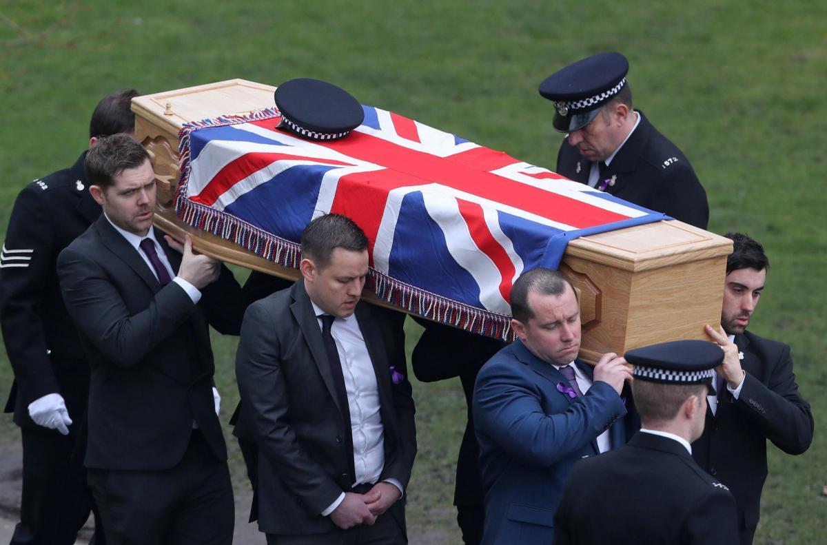 emotional scenes at funeral of much loved police interceptor gavin