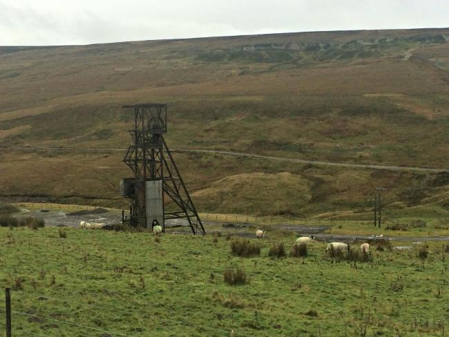 ICONIC: The headgear at Groverake mine near Rookhope has been saved from demolition