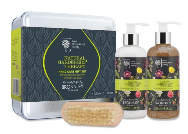 The Northern Echo: Undated Handout Photo of RHS Natural Gardeners Therapy Hand Care gift set, available from bronnley.co.uk. See PA Feature GARDENING Mothers Day. Picture credit should read: PA Photo/Handout. WARNING: This picture must only be used to accompany PA Feature G