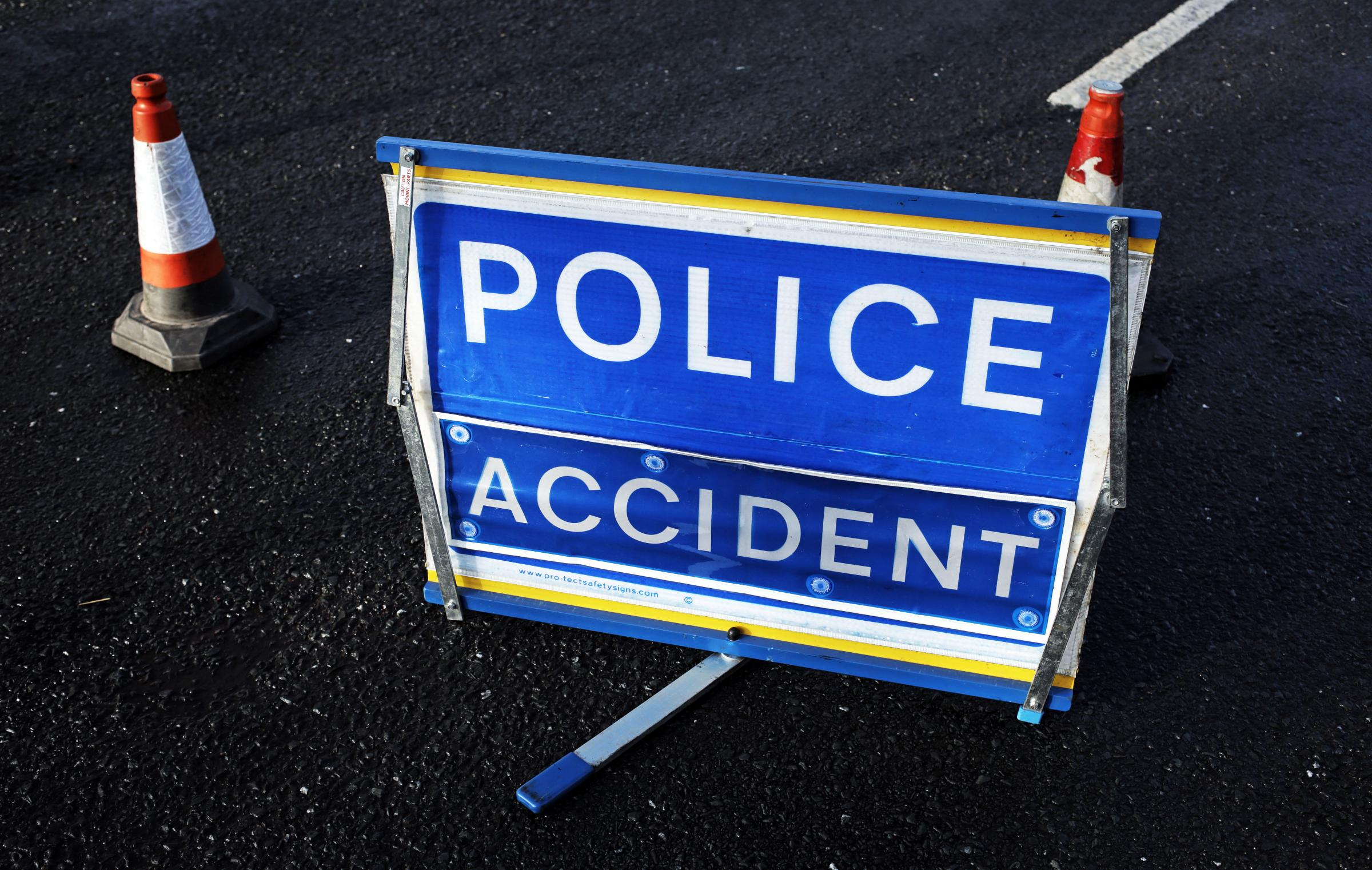 INCIDENT: Emergency services attended the scene of an accident on the A68 involving a car and motorbike