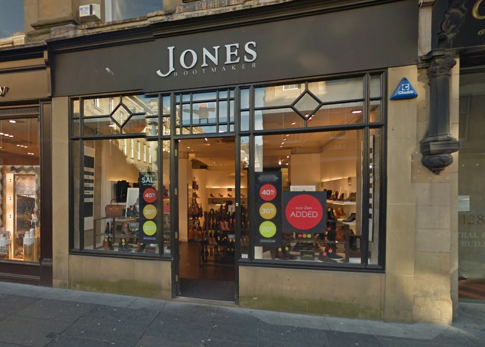 BASE: Jones Bootmaker had stores in Durham City and Newcastle    Picture: GOOGLE
