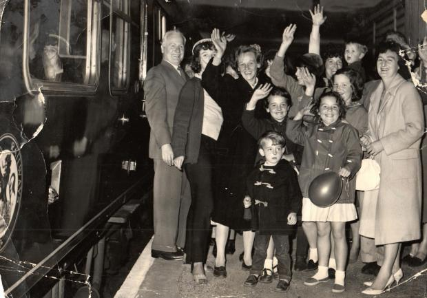 The Northern Echo: RAILWAY PARTY: This picture has been filed wrongly, as it shows a party at Scorton station on September 10, 1964, celebrating that the Richmond to Darlington line was still open. The line had been due to succumb to the first swingings of the Beeching Axe