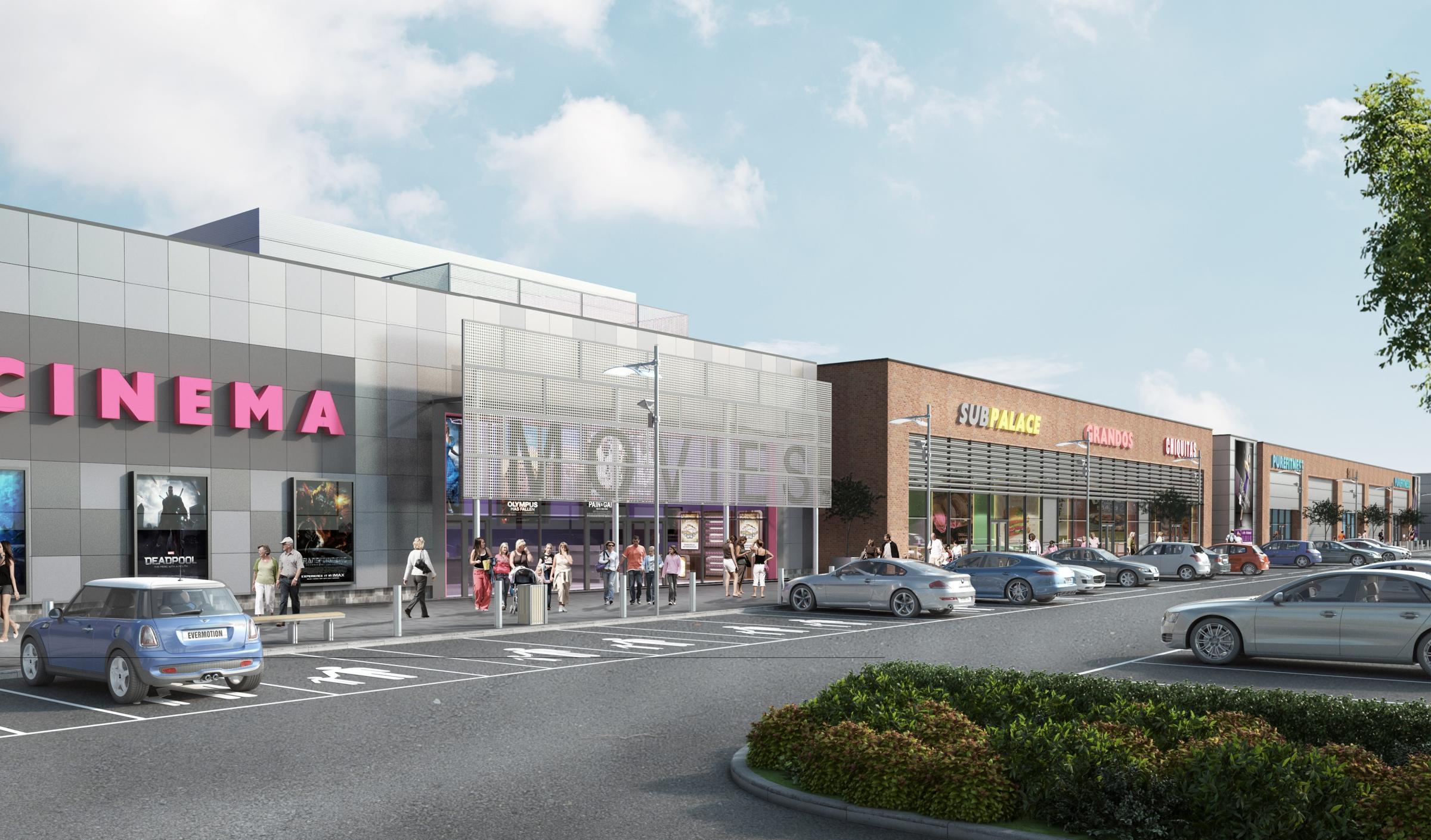 ANTICIPATED: An artist's impression of the cinema development set to be built in St Helen Auckland Picture: CREATE ARCHITECTURE