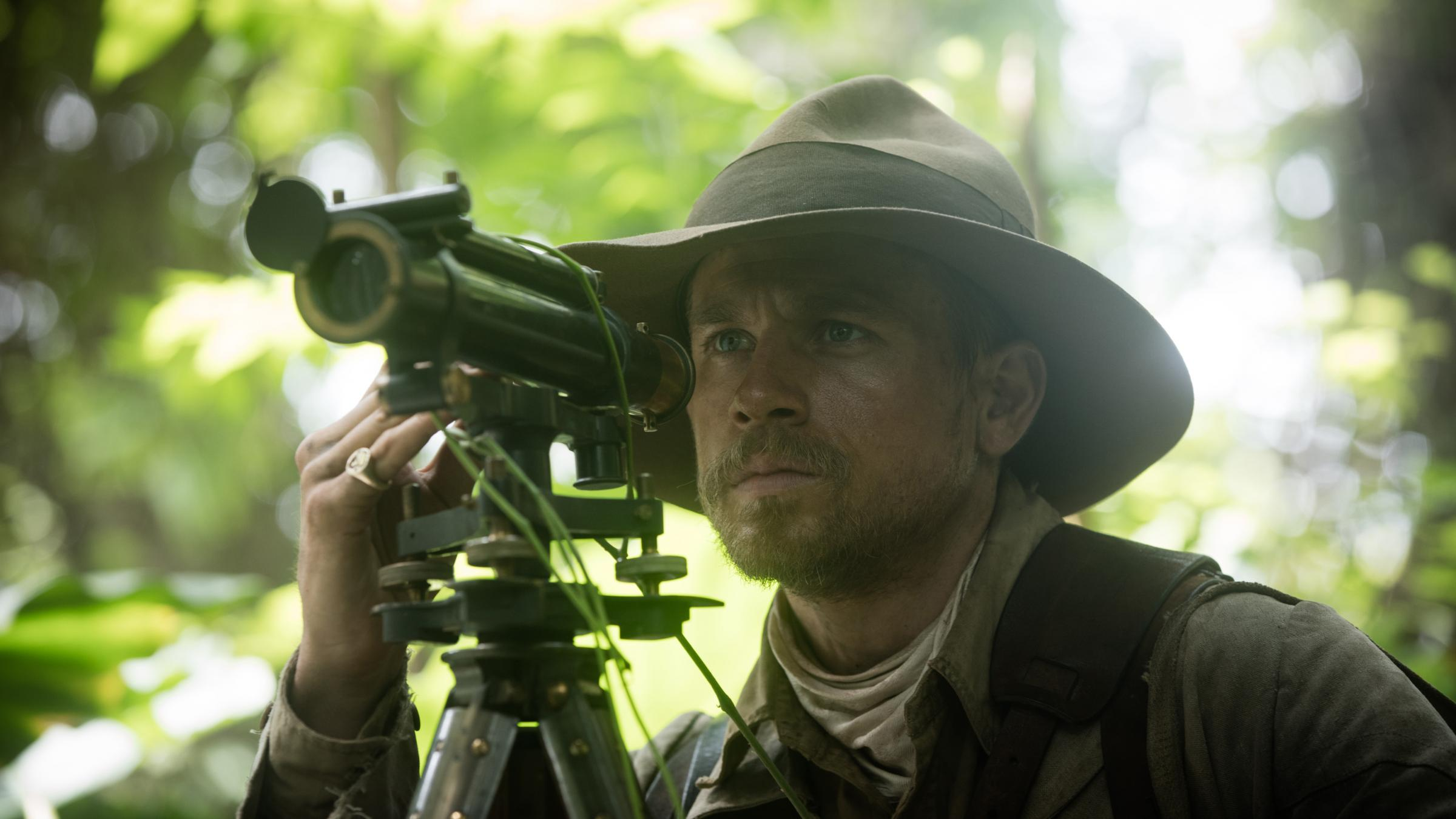 Charlie Hunnam as Colonel Percy Fawcett in The Lost City of Z