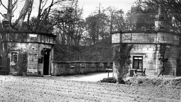 The Northern Echo: QUAINT CROSSING: Abbey Bridge, beneath Egglestone Abbey, was built by Sir Thomas Robinson, of Rokeby, in 1773. This was taken in March 1954, just as the crossing charge was ending. The tollhouses were on the Yorkshire side. The toll-collector, and his fam