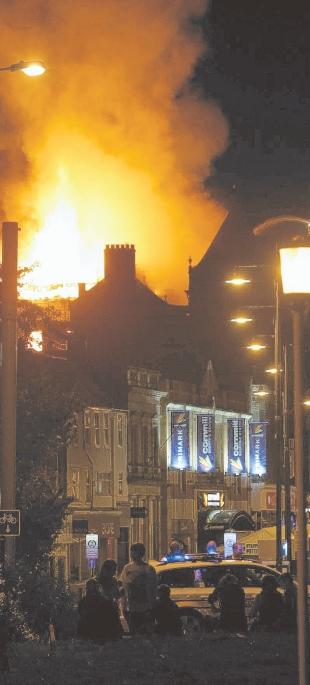 SPECTACULAR: The blaze could be seen as far away as Scotch Corner