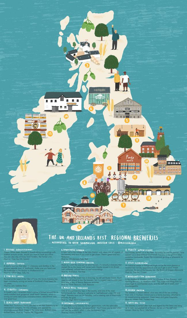 North Yorkshire Brewery Included In Beer Map Of Britain And Ireland