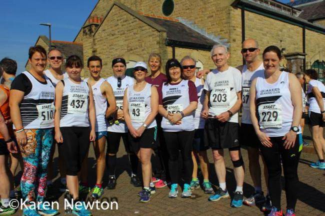 Some of runners before the race at Hartlepool last Sunday