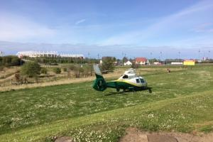 An aircrew from the Great North Air Ambulance Service (GNAAS) landed off the A66 slip road, near Middlesbrough's Riverside stadium. Picture: GNAAS