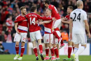 Middlesbrough v Sunderland: De Roon celebrates Boro opening goal. Picture: Owen Humphreys/PA Wire