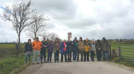 BLOCKADE: Anti-fracking protesters at the KMA well site
