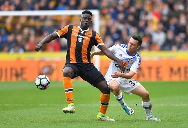 Decent: George Honeyman battles with former Sunderland man Alfred N'Diaye