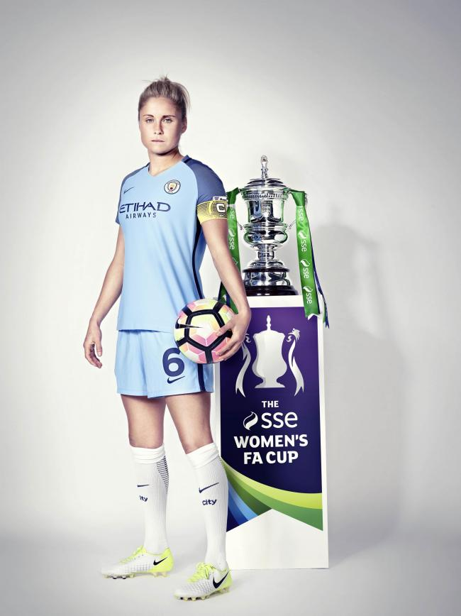 CUP HOPES: Steph Houghton will skipper Manchester City against Birmingham in the Women's FA Cup final
