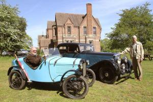 AT THE GRANGE: Allan Bruce (left) in his 1934 Austin 7 Ulster and Tony Gray with his 1936 Bentley