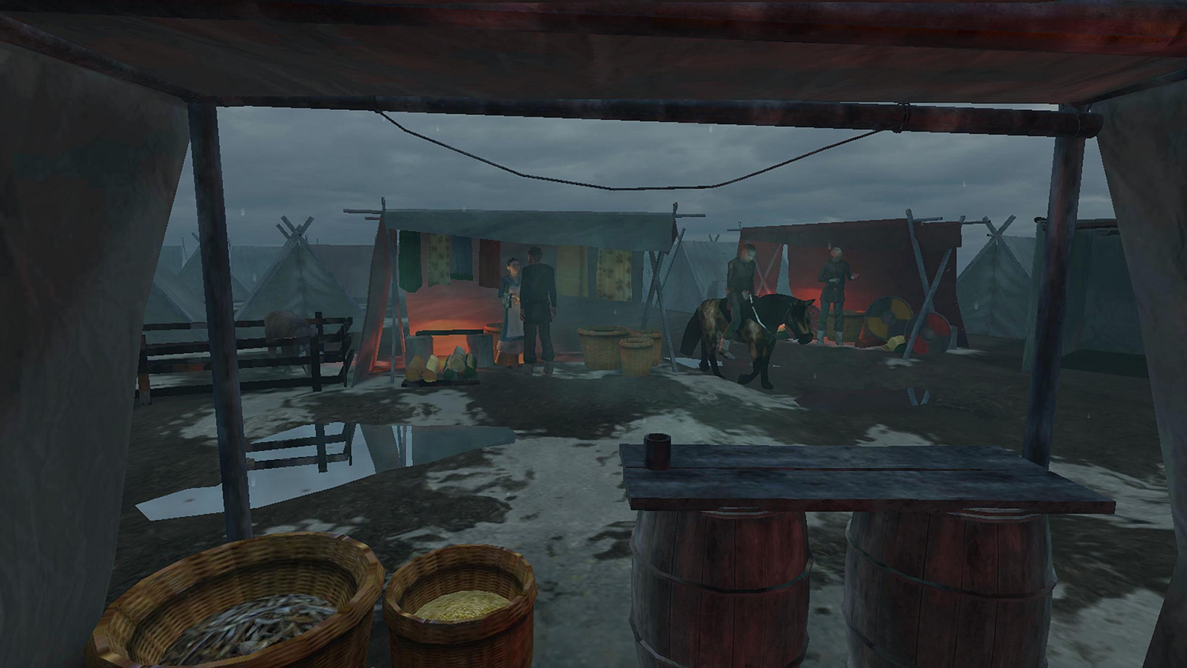 Virtual reality brings Viking camp to life