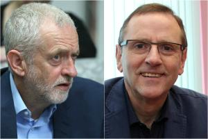 DISTANCE: Labour leader Jeremy Corbyn and Sedgefield candidate Phil Wilson