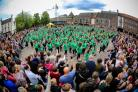 DANCE: Last year's Mass Dance was held in the Market Square.