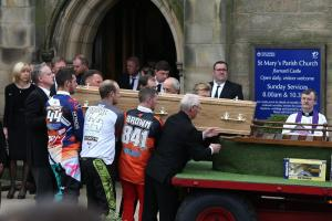The funeral of Thomas John Brown takes place at St Mary's Church in Barnard Castle. Picture: CHRIS BOOTH