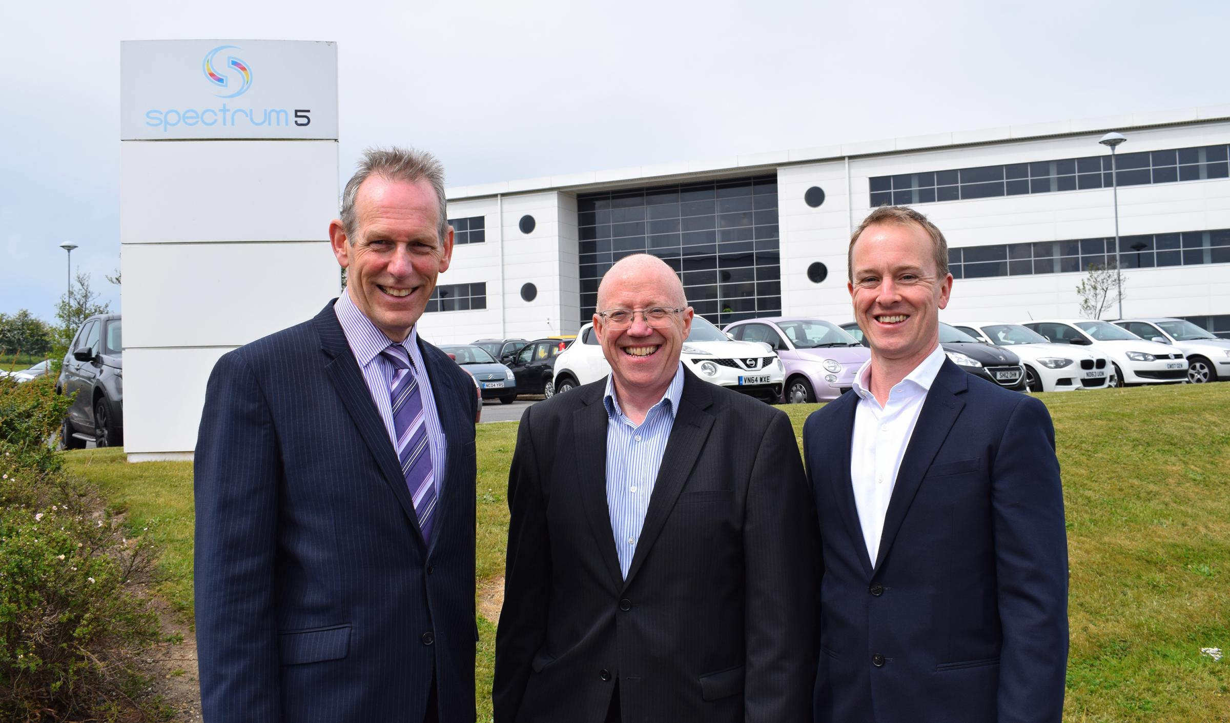 MOVE: Robert Patterson, of property agent Sanderson Weatherall, with Northumbrian Water's John McGovern and Spectrum's Paul Wellstead