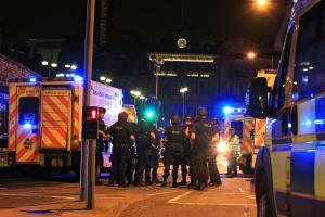 EXPLOSION: Witnesses have described hearing explosions at an Ariana Grande concert in Manchester