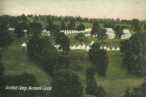 PRISON SITE: An Edwardian postcard showing Deerbolt camp, Startforth, where the young offenders' institute is today