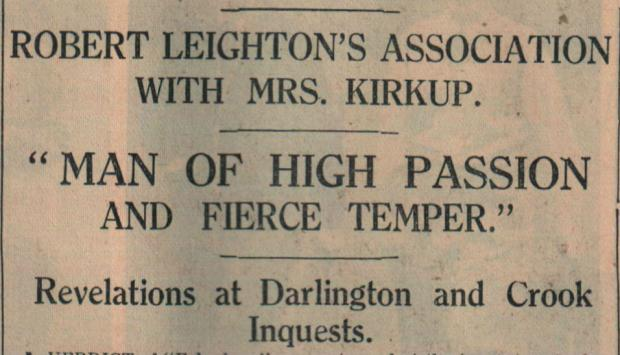 The Northern Echo: INQUEST REPORT: The Northern Echo of April 26, 1933