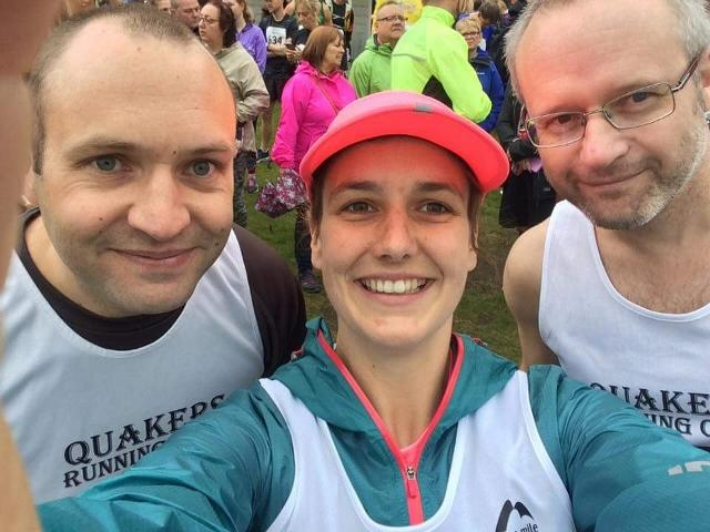Three of our runners looking happy before tackling the marathon at Windermere!
