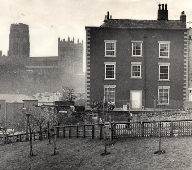 The Northern Echo: CASTLE CHARE: Now known as St Anne's Court, this mid 18th Century townhouse was for many decades a hotel called The Wheatsheaf although it became the presbytery for St Godric's when the church was built in 1864. This picture was taken in March 198