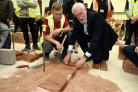 SKILLS: Construction student David Hughes with Labour Party leader Jeremy Corbyn