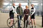 •    Luke Westoe (from Morpeth), Alan Shearer (Patron, Sir Bobby Robson Foundation), Karen Verrill (Centre Head at Maggie's Newcastle) and Darren Purvis (from Birtley)