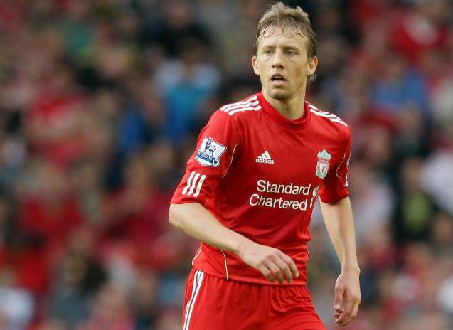 MIDFIELD TARGET: Newcastle are pondering a move for Liverpool's Lucas Leiva