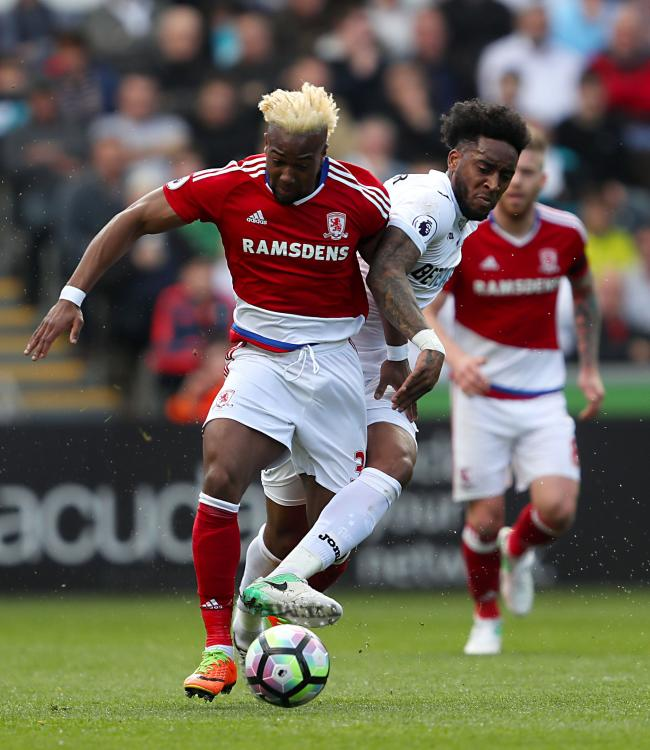 HAMMERED: Adama Traore is set to join West Ham from Middlesbrough