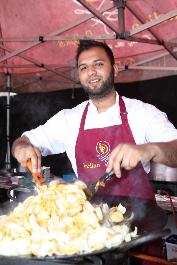 The Northern Echo: Fuzail Patel fries up a mountain of onions