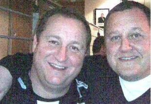 COULD BE BROTHERS: Alan McKenna with Mike Ashley